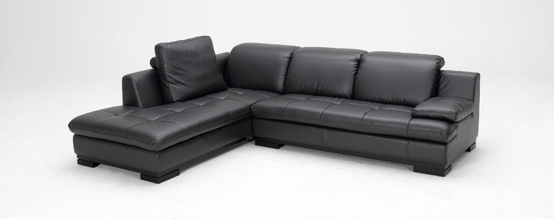 1052 espresso bonded leather sectional sofa left facing for Bonded leather sectional sofa with chaise
