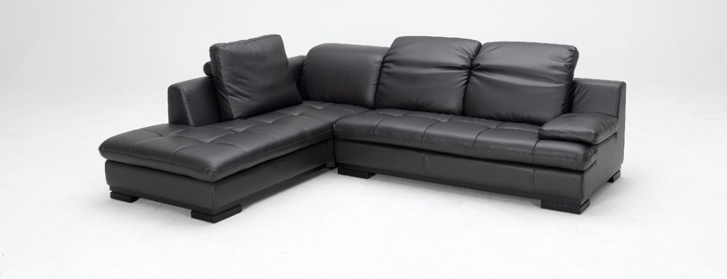 1052 espresso bonded leather sectional sofa left facing for Bonded leather chaise