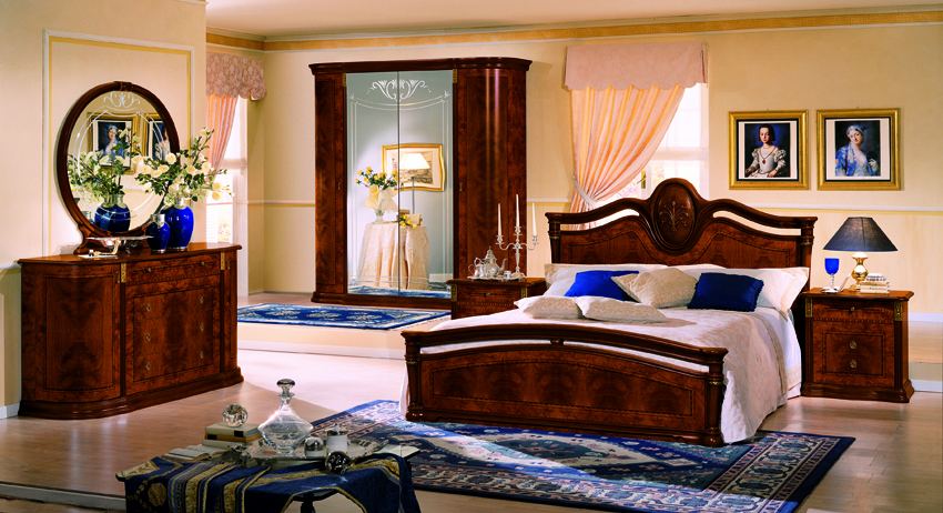 to enlarge the view of klassica italian lacquer bed 2 nightstands