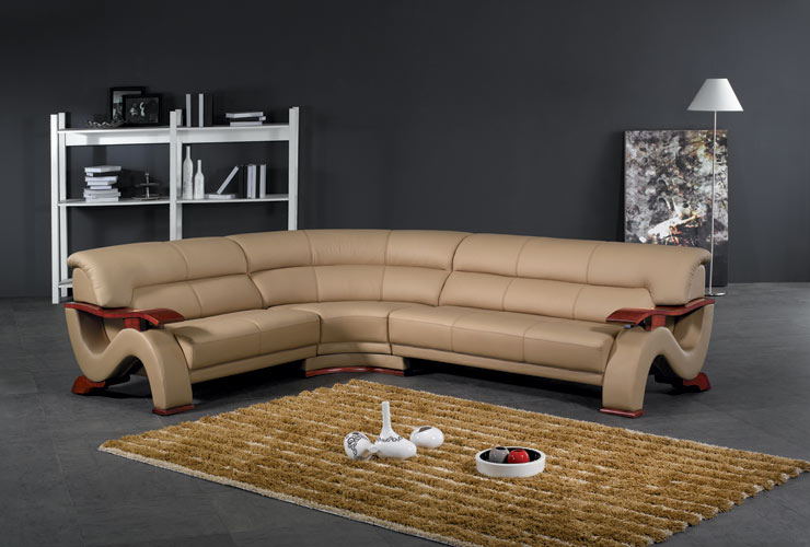 Black Design Co: 2033 Beige – Modern Sectional Sofa