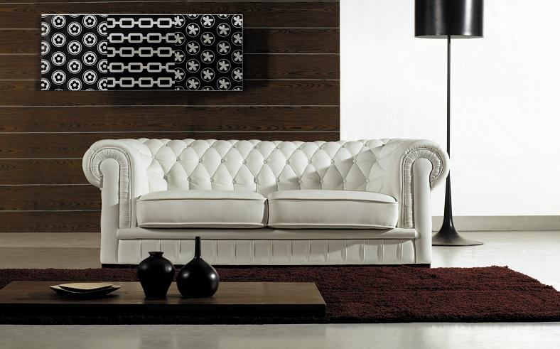 Paris Ultra Modern White Living Room Furniture Black