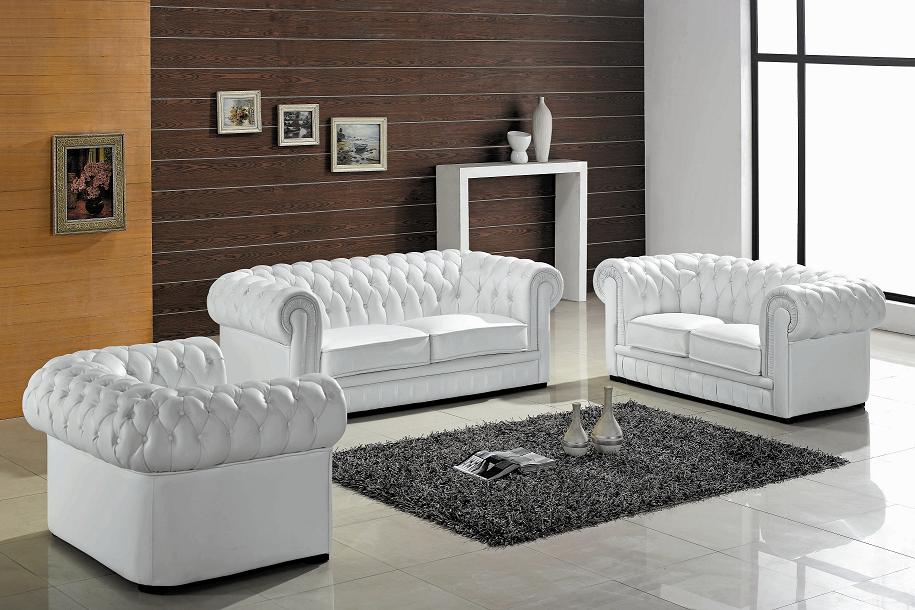 Paris Ultra Modern White Living Room Furniture Black