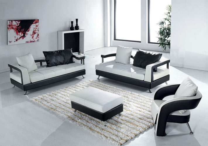 Living room black design co page 33 Sleek sofa set designs