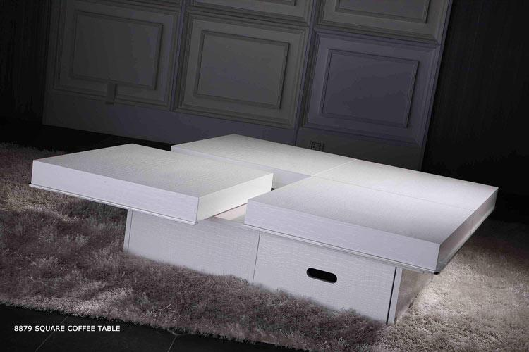 To Enlarge The View Of Modern Crocodile White Coffee Table 8879a