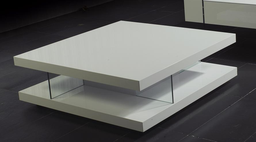 8916 White High Gloss Coffee Table Black Design Co