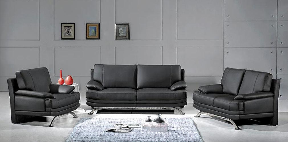 Exceptionnel 9250 Modern Black Sofa Set