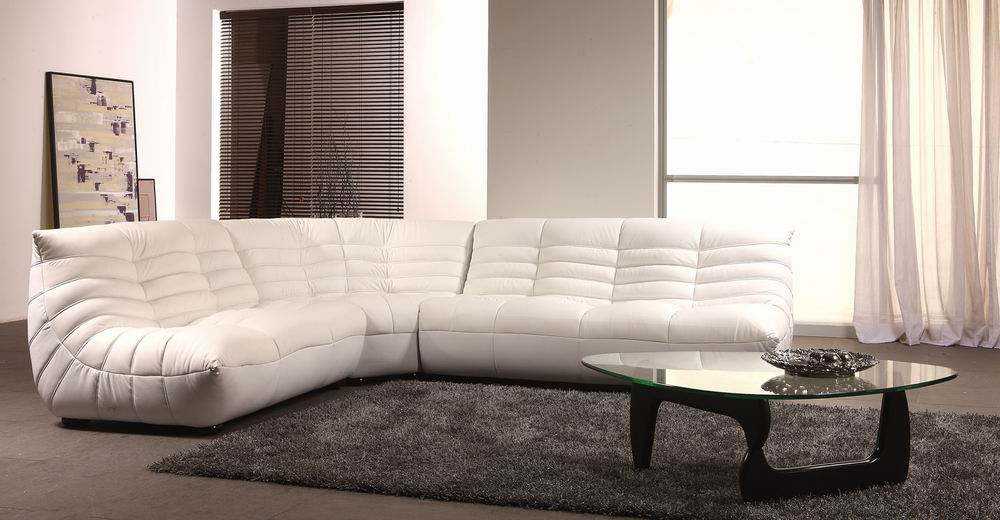 B 240b Contemporary Leather Sectional Sofa Black Design Co