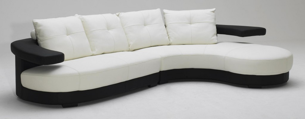 KK899 Black And White Ultra Modern Sectional Sofa