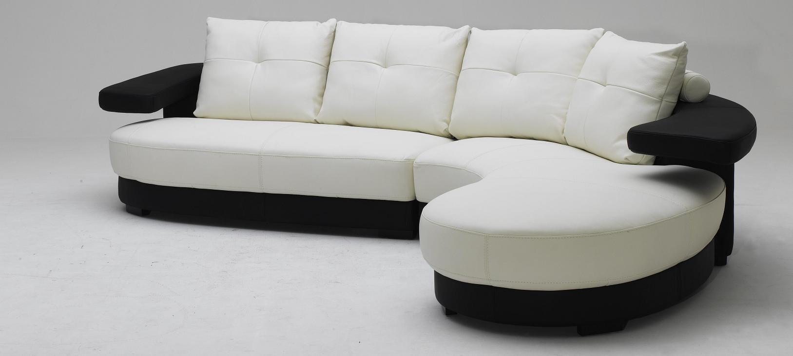 Black Design Co: KK899 Black And White Ultra Modern Sectional Sofa