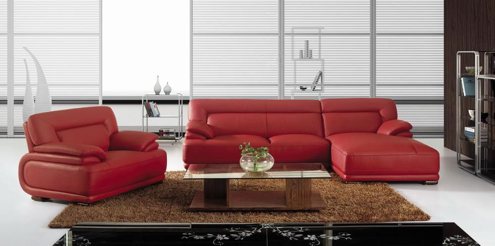 Bo3929a Modern Red Leather Sectional Sofa Black Design Co