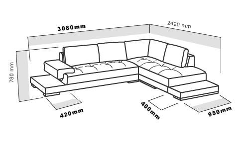 2226 Beige Sectional Sofa Set Black Design Co