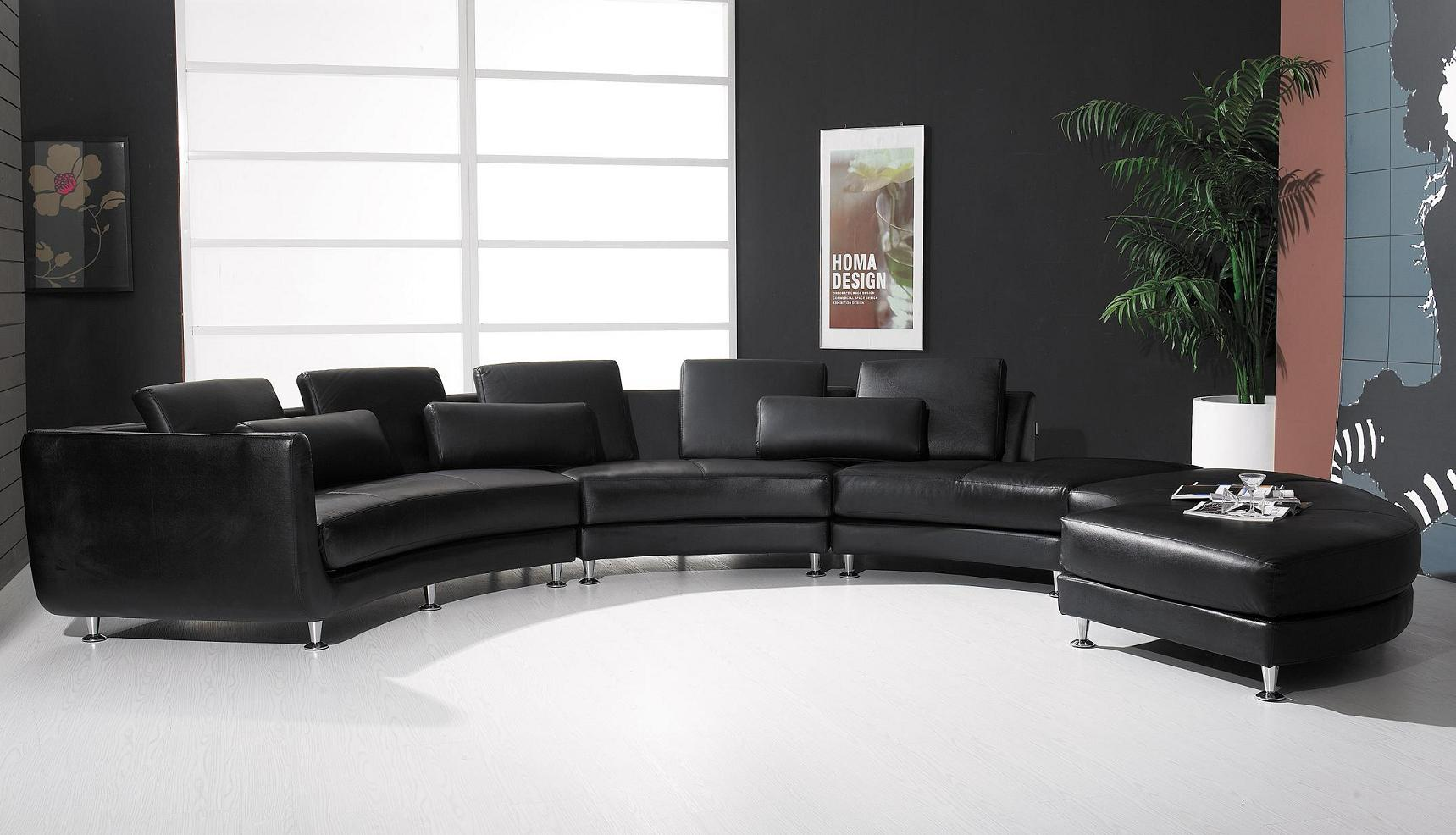 A94 White Leather Sectional Sofa Set Black Design Co