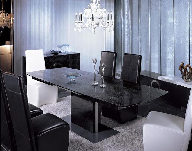 Black Design Co: Armani 265 Modern Dining Table