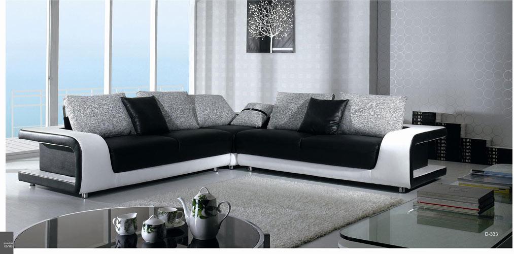 Black Design Co: B 333 Contemporary Sectional Sofa