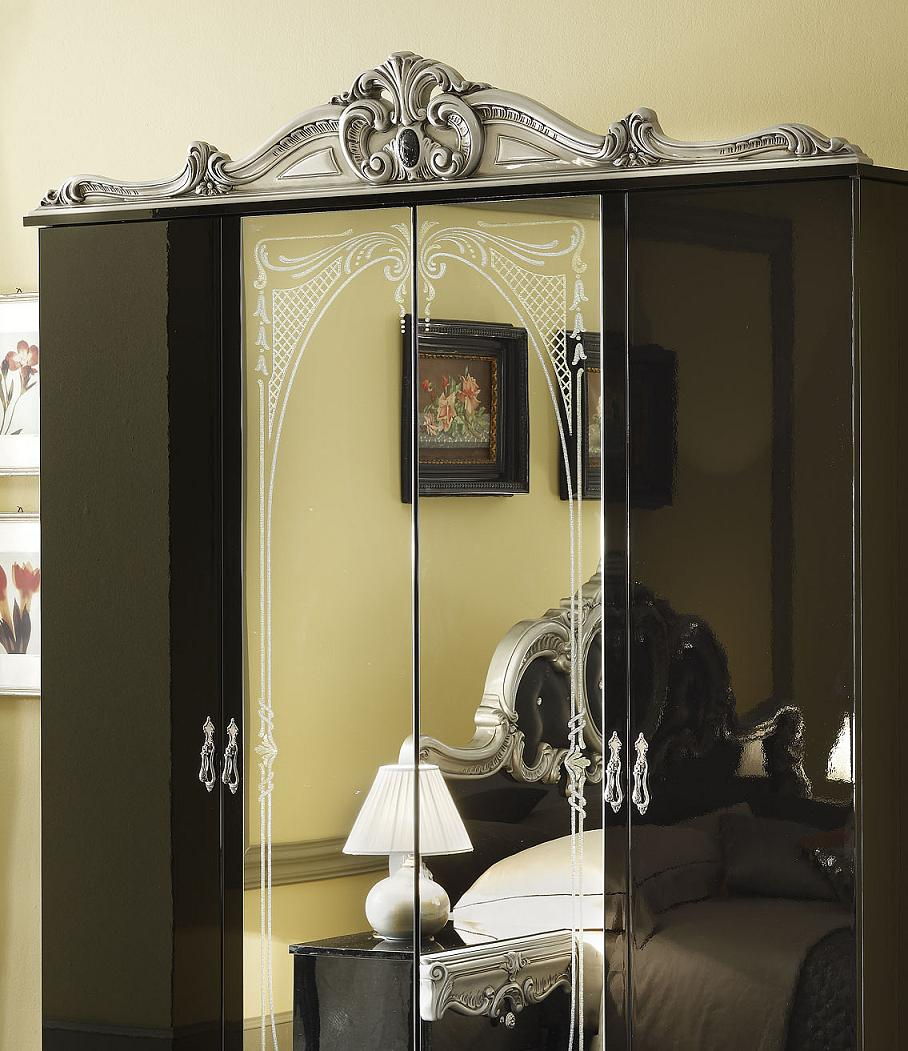 barocco black classic italian bed black design co. Black Bedroom Furniture Sets. Home Design Ideas