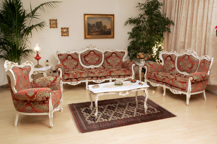 Cristina Traditional Italian Sofa Set Black Design Co