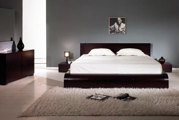 Black Design Co: Curve Modern Platform Bed
