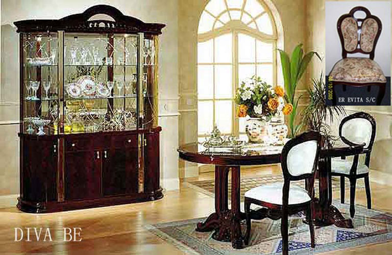 click to enlarge the view of diva traditional dining set