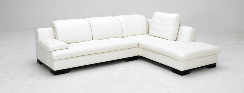 White Leather Sectional Sofa Design