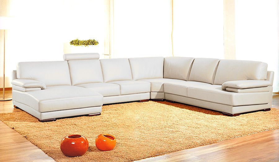 2227 orange contemporary orange sectional sofa black for Contemporary orange sectional sofa