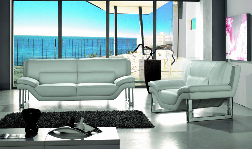 New York Modern 3 PC Sofa Set Black Design Co