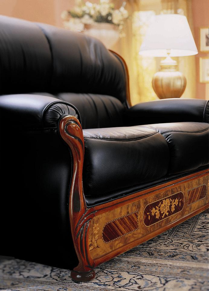milady italian traditional sofa set black design co