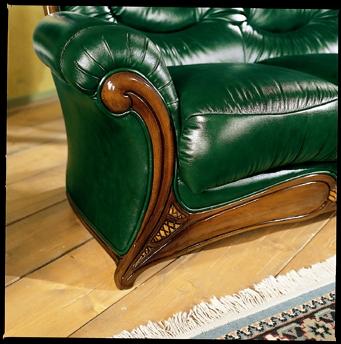 Amalfi Traditional Italian Sofa Set Black Design Co