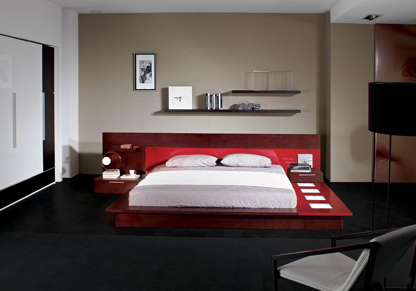Rimini Contemporary Walk On Platform Bed Black Design Co