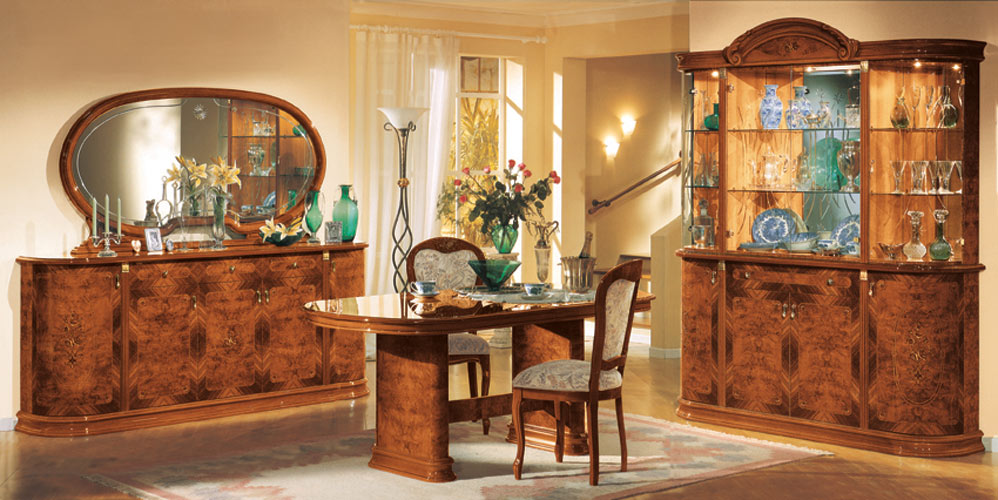 flora walnut traditional dining set black design co