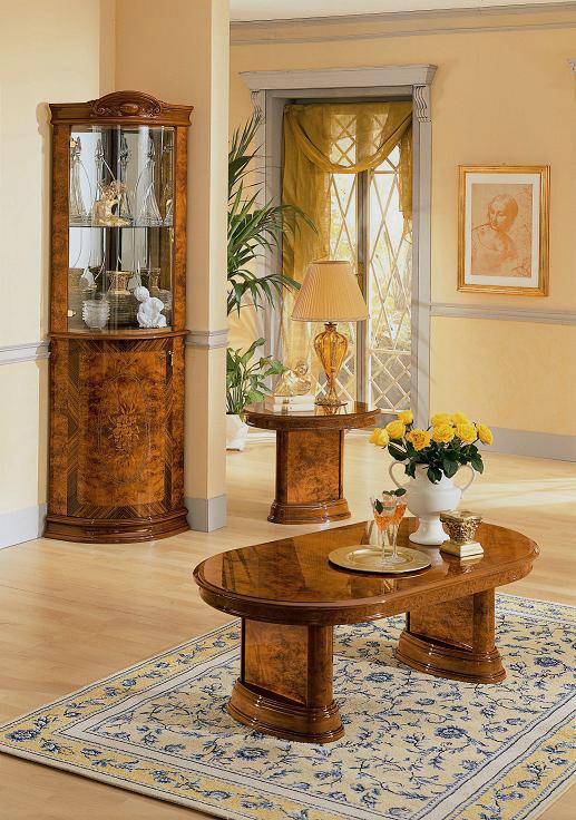 Flora Walnut Italian Coffee Table Black Design Co