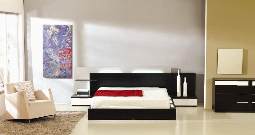 Gamma Modern Platform Bed with Air-Lift Storage