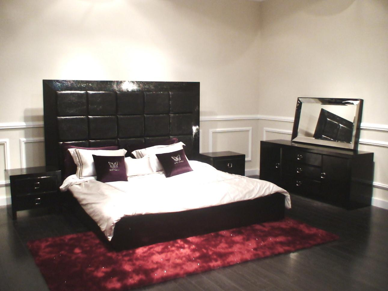 Glam Black Armani Xavira Collection Bed Model Aa216