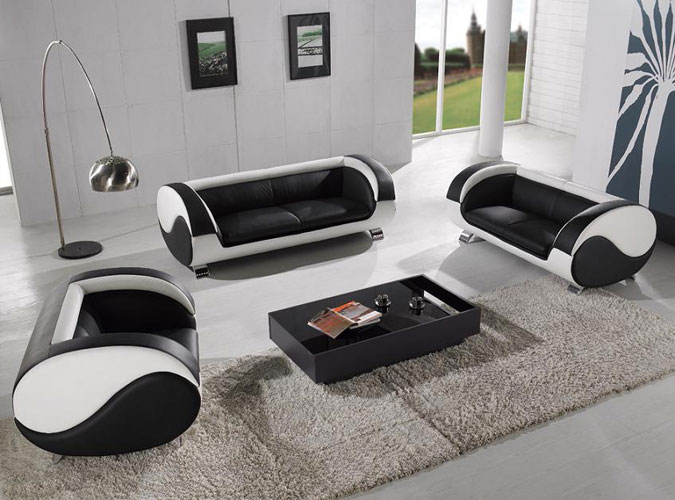 Harmony modern living room furniture black design co for Stylish furniture
