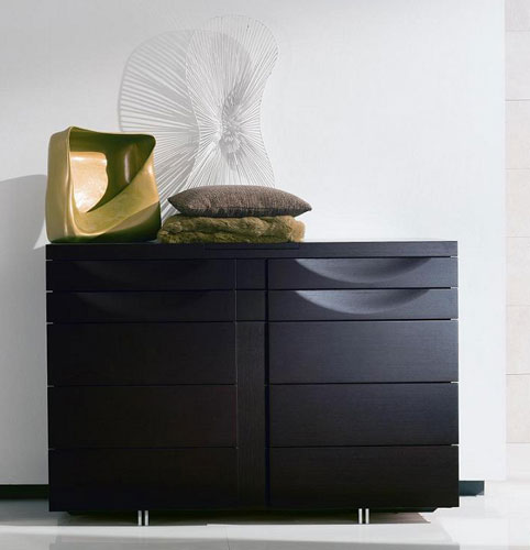 Historie Round Rotating Bed Black Design Co