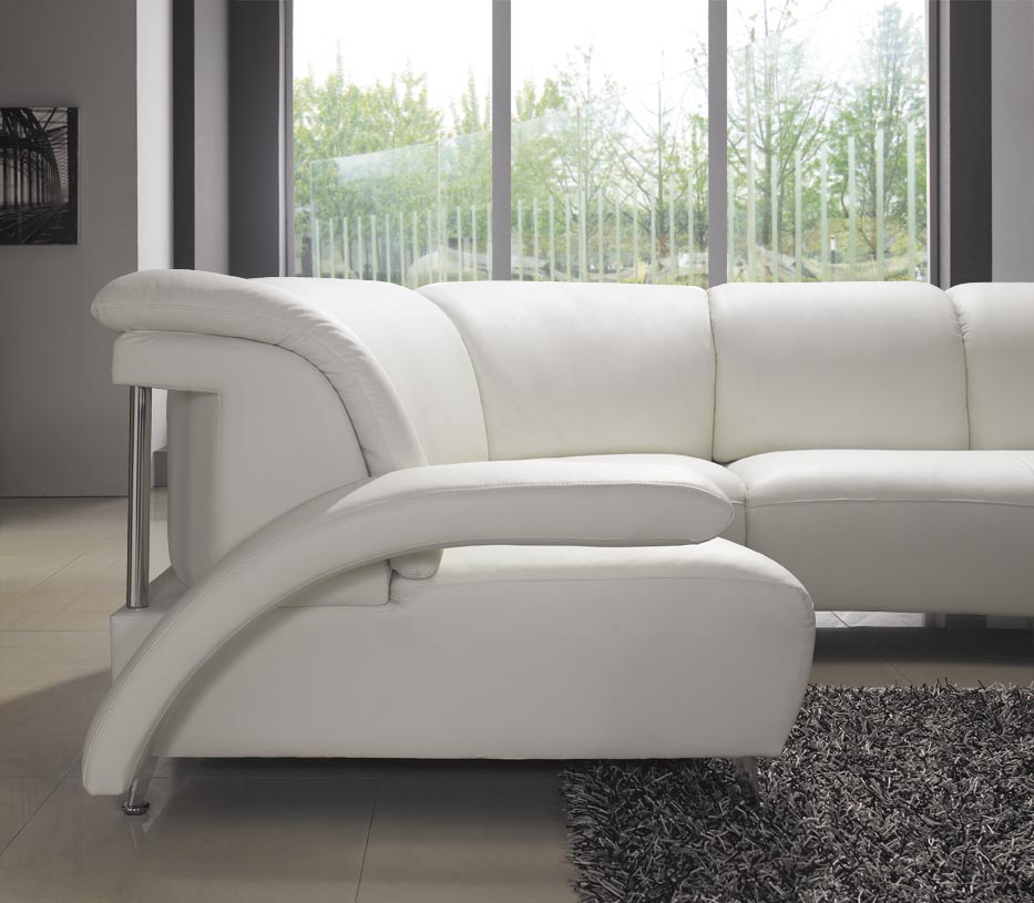 modern white leather sectional sofa 104